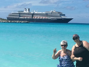 Cruise Ship with Tourists